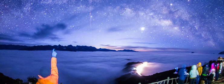 雅安盛夏夜里的星空印迹